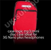 CASE LOGIC NEOPRENE MP3 MINIDISC CASE MDC2 RED